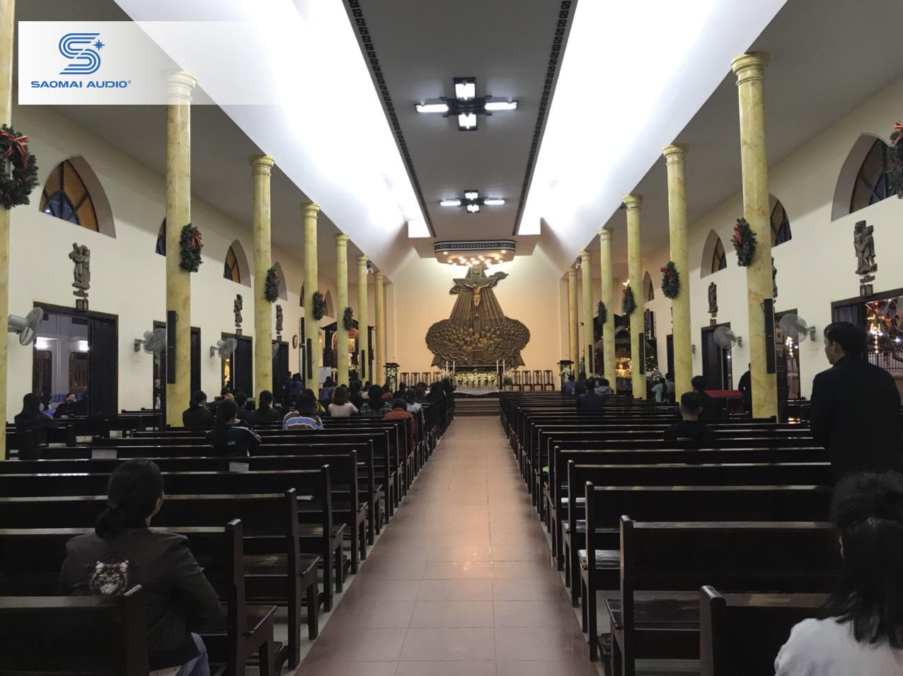Loa Bose MA12 trong Nhà thờ Thái Hà