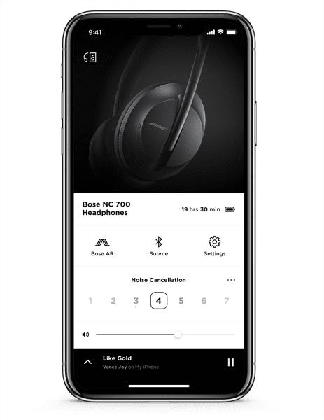 ứng dụng bose music headphones 700