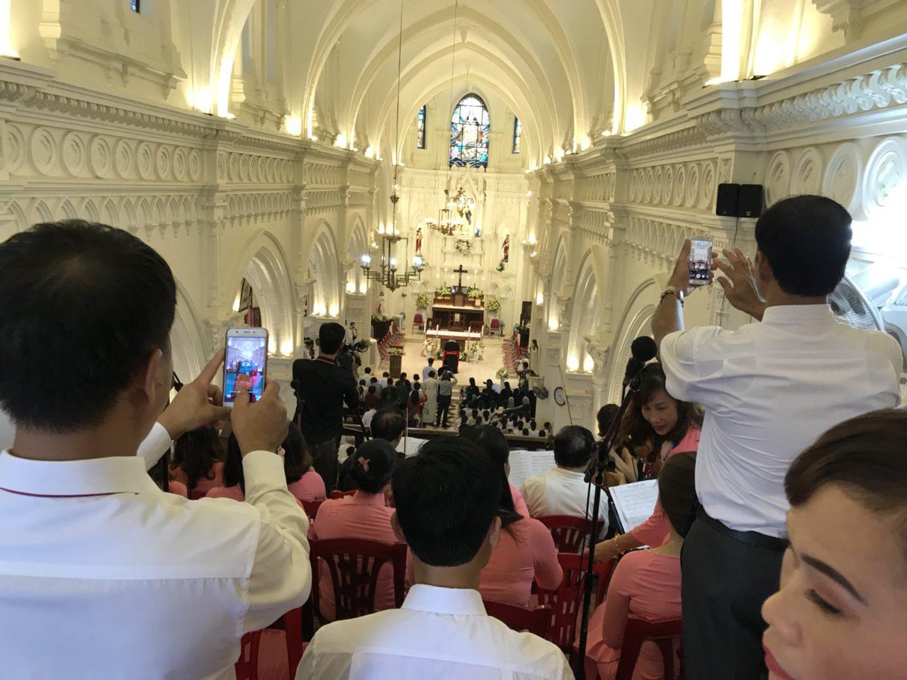 Buổi lễ khánh thành Nhà thờ Tân Độ