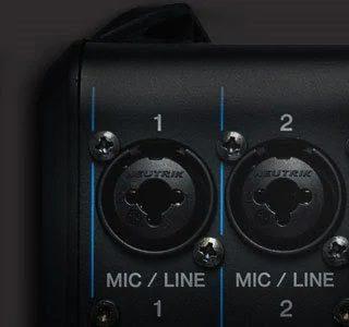 cổng mic line trên mixer