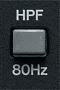 điều chỉnh cắt tần HPF trên mixer