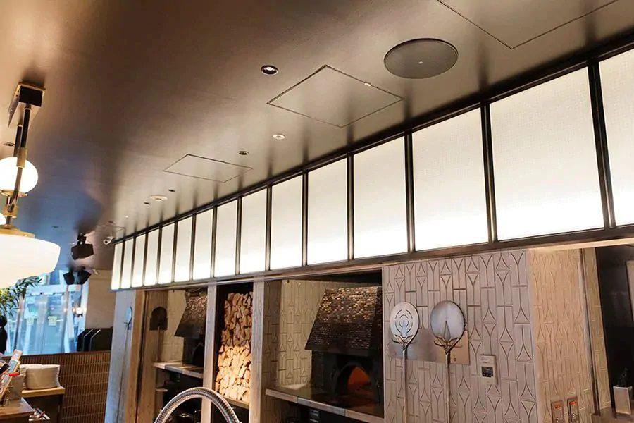 lắp đặt loa âm trần cho nhà hàng quán cafe