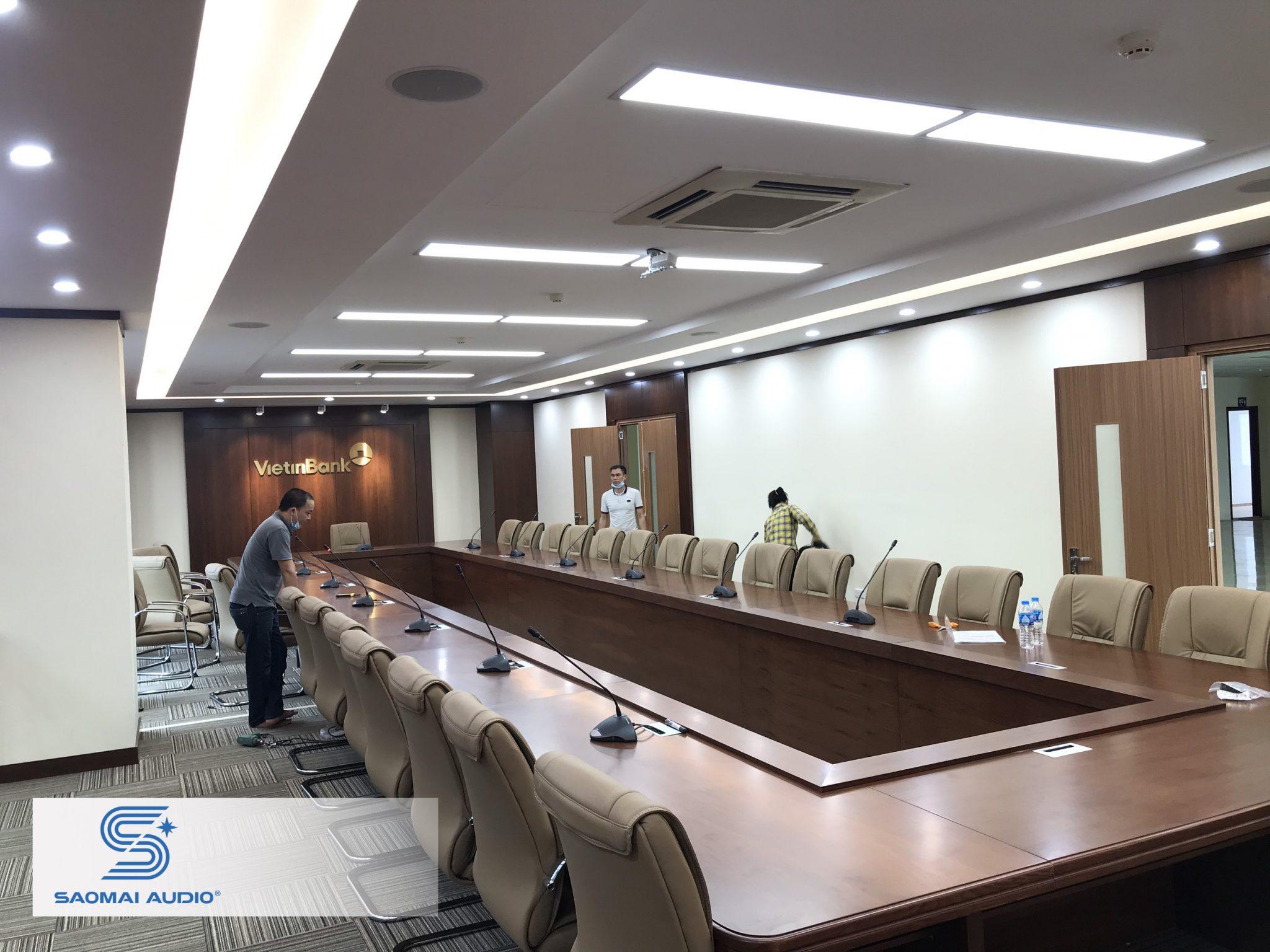 Lắp đặt hệ thống âm thanh phòng họp tại Ngân hàng Vietinbank